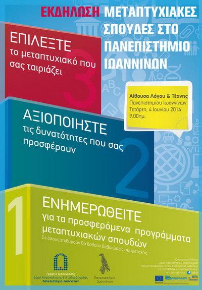 Οι Μεταπτυχιακές Σπουδές στο Πανεπιστήμιο Ιωαννίνων