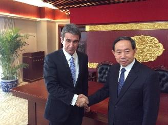 Συνάντηση Ανδρέα Λοβέρδου με Υπουργό Παιδείας Λ.Δ. Κίνας