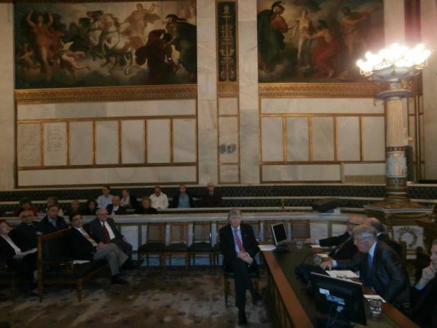 Υποδοχή του Προέδρου του Συμβουλίου ΑΠΘ, κ. Richard Lawrence Hunter, ως Ξένου Εταίρου της Ακαδημίας Αθηνών