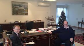 Συνάντηση του ΥΠ.Π.Ε.Θ., Νίκου Φίλη, με τον Bρετανό Πρέσβη, Τζων Κίττμερ