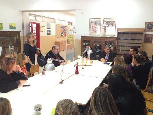 Επίσκεψη του Υπουργού Νίκου Φίλη στο 13ο Δημοτικό Σχολείο Παγκρατίου